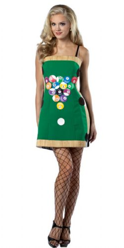 Pool Table Dress - Sexy Fancy Dress (Rasta Imposta)